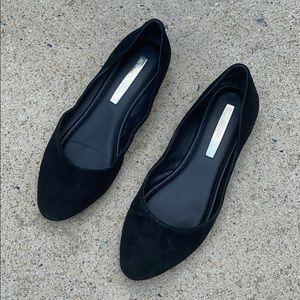 Black Suede Flats